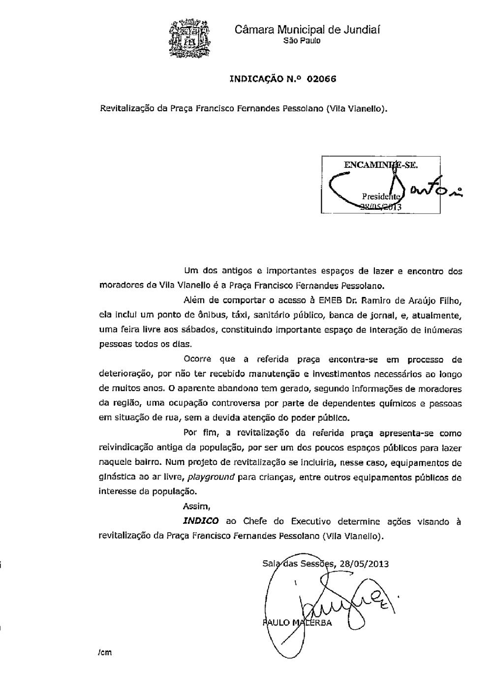 Indicação 2013 - Pessolano
