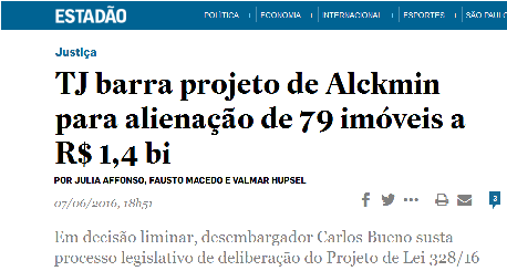 Recorte Estadão - Limitar contra PL 328-2016 - 2