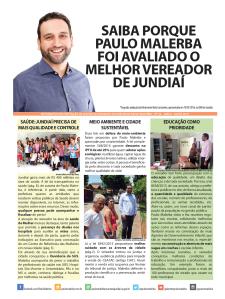 Capa Jornal Prestação de Contas Paulo Malerba 2016